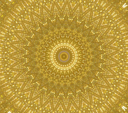 yellow circular ornament photo