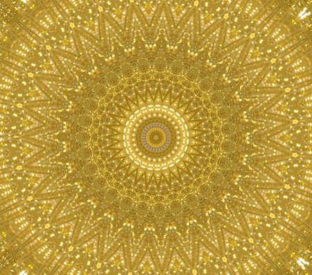 yellow circular ornament Stock Photo - 16219719