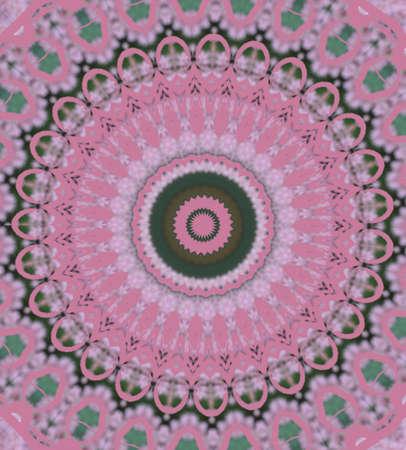 wholistic: pink circular pattern Stock Photo