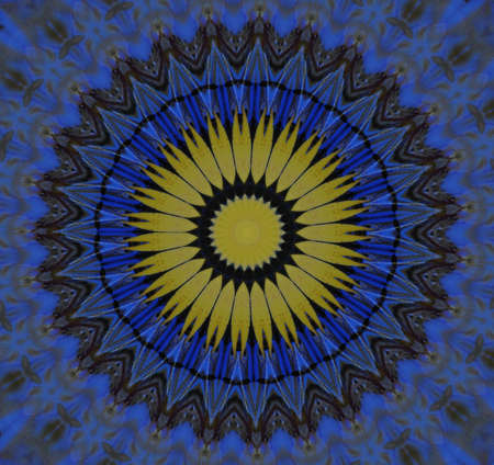 blue and yellow circular ornament Stock Photo - 16194207