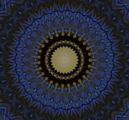 blu e giallo ornamento circolare photo