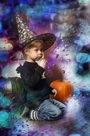 boy in witch hat Stock Photo - 19026515