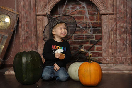 boy in witch hat Stock Photo - 19027131