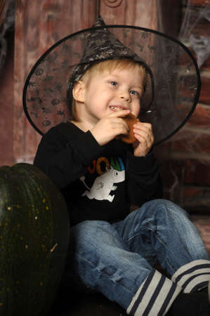 boy in witch hat Stock Photo - 19027061