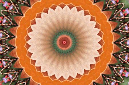 orange circular vintage ornament Stock Photo - 16443076