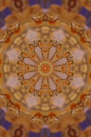 orange circular vintage ornament Stock Photo - 16443046
