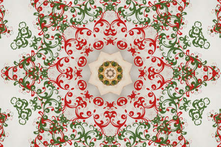 red green circular pattern photo