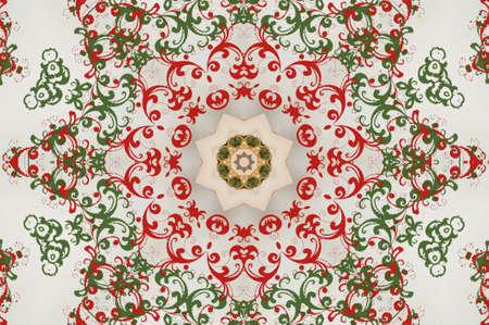 red green circular pattern Stock Photo - 16443624