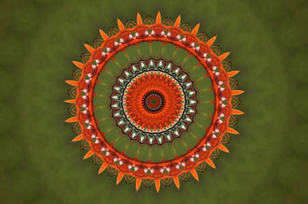 artistry: red green circular pattern