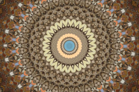 brown circular mosaic pattern Stock Photo - 16411642