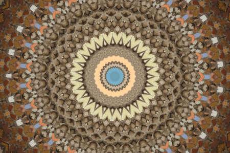 brown circular mosaic pattern Stock Photo - 16411642