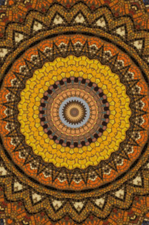 brown circular mosaic pattern photo