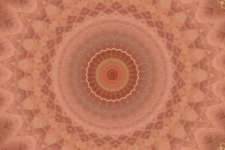 wholistic: Circular abstract ancient ornament Stock Photo