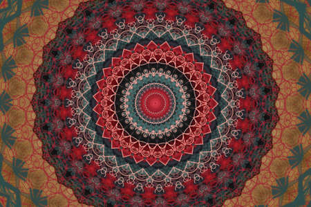 oriental ornament in warm colors photo