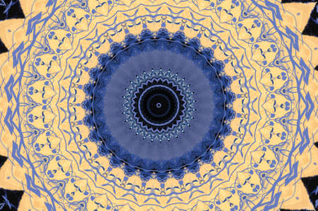 The blue and beige pattern  photo