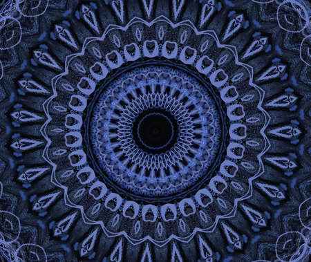 dark blue oriental ornament photo