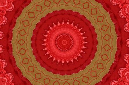 red and yellow kaleidoscope pattern Stock Photo - 16412362