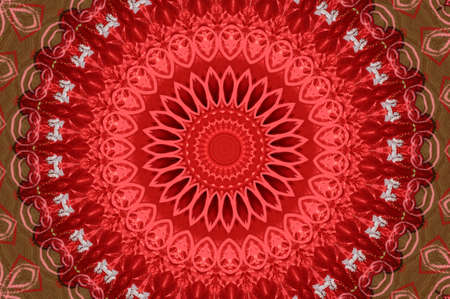 red and yellow kaleidoscope pattern photo
