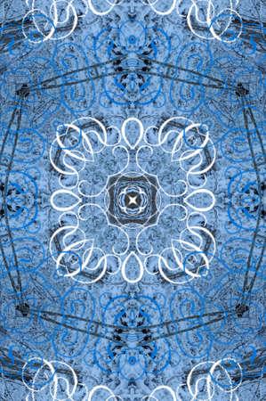 blue oriental ornament circular Stock Photo - 16408073