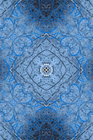 blue oriental ornament circular Stock Photo - 16408075