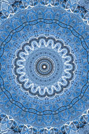 blue oriental ornament circular Stock Photo - 16408074