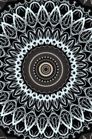 black and white kaleidoscope pattern photo