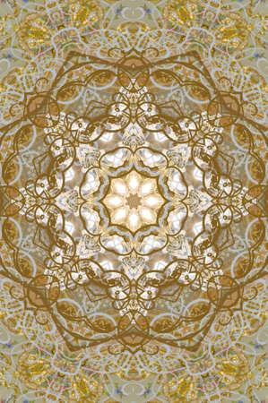 thai silk: golden ornament retro