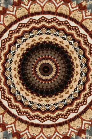 brown circular mosaic pattern Stock Photo - 16411631