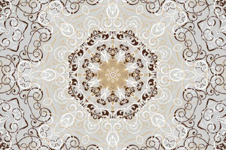 light beige brown ornament Stock Photo - 16861201