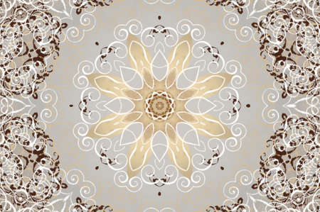 western style room: light beige brown ornament