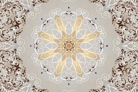 light beige brown ornament Stock Photo - 16861198