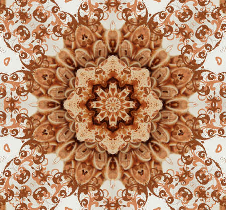 brown oriental ornament photo