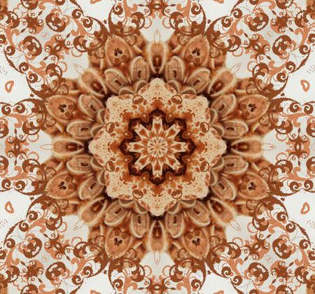 granit: brown oriental ornament