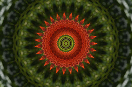 red and green circular pattern photo