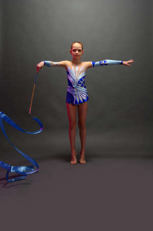 gymnast with a ribbon photo