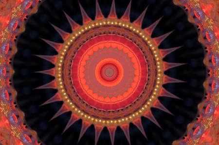 kaleidoscopic: red ornament Stock Photo