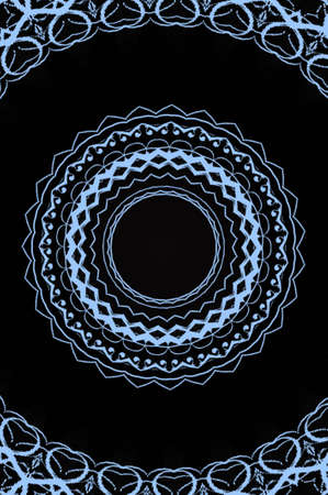 dualistic: blue circular pattern on a black background