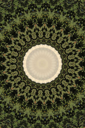 nonuniform: green circular pattern