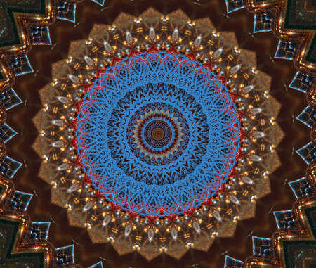 red and blue pattern ornament photo