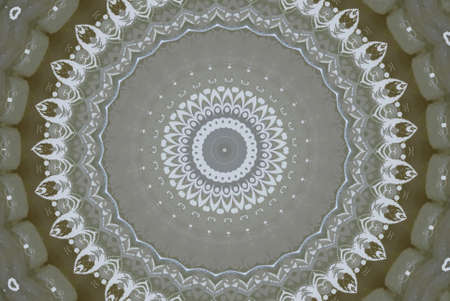 indigen: white with brown ornaments