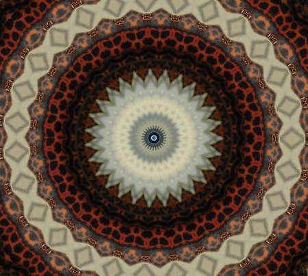 Oriental mosaic decoration photo