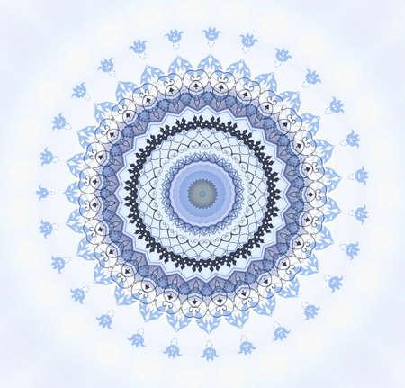 синие восточный орнамент Фото со стока