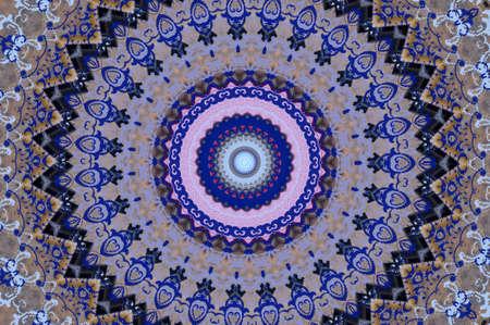 blue oriental ornament
