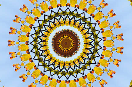 A yellow pattern for meditation photo
