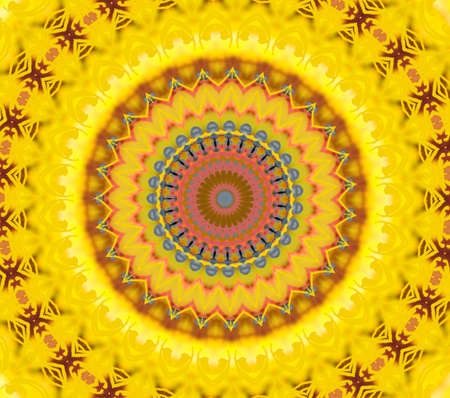 A yellow pattern for meditation Stock Photo - 16857351