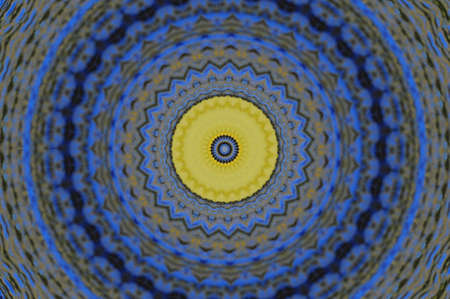 blue and yellow pattern Stock Photo - 16490963