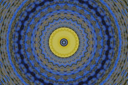 blue and yellow pattern Stock Photo - 16490963
