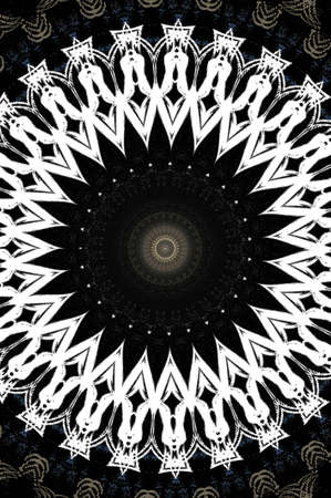 Black and white magic ornament Stock Photo - 16490984