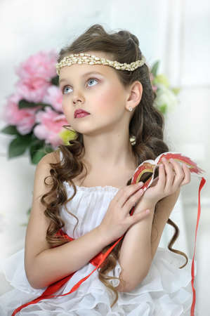 portrait of a girl with a Victorian style Stock Photo - 17179409