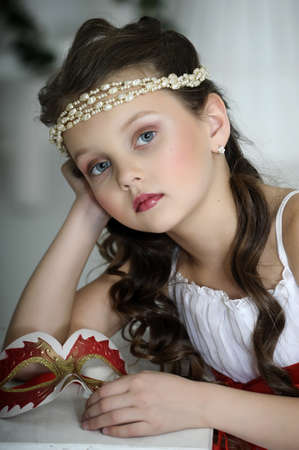 portrait of a girl with a Victorian style photo
